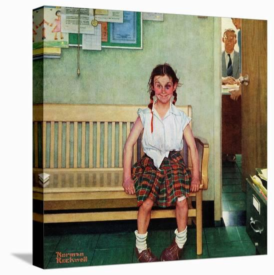 """""""Shiner"""" or """"Outside the Principal's Office"""", May 23,1953-Norman Rockwell-Stretched Canvas Print"""