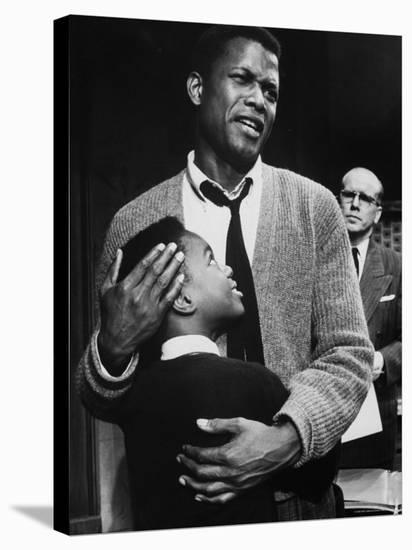 Sidney Poitier in Scene from A Raisin in the Sun-Gordon Parks-Stretched Canvas Print