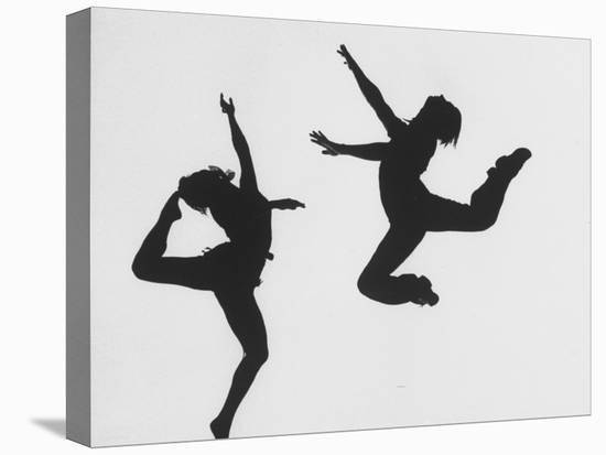 Silhouettes of Dancers Diane Sinclair and Ken Spaulding-Gordon Parks-Stretched Canvas Print