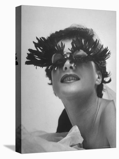 Silly Sunglasses Featuring Long Blue Eyelashes and Small Lenses by Designer Schiaparelli-Gordon Parks-Stretched Canvas Print