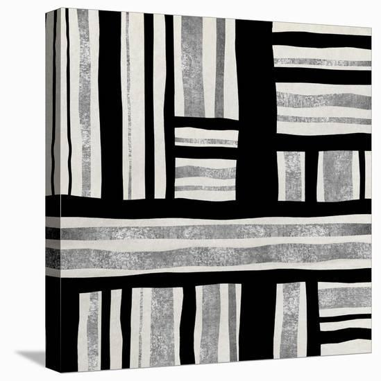 Silver Groove II-Ellie Roberts-Stretched Canvas Print