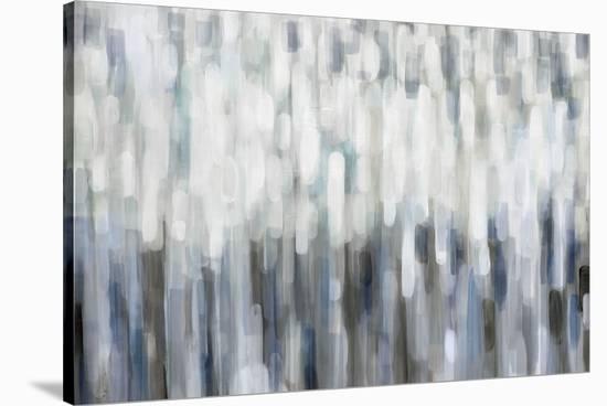 Silver Rain-Karen Lorena Parker-Stretched Canvas Print