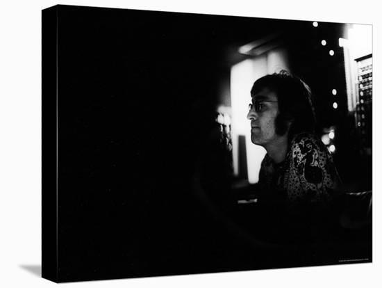 "Singer John Lennon Working on His Album ""Mind Games"" at the Record Plant-David Mcgough-Premier Image Canvas"