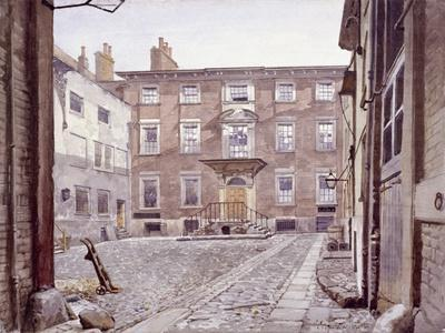 Sir Christopher Wren's House, Botolph Lane, London, 1886-John Crowther-Stretched Canvas Print