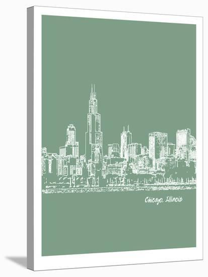 Skyline Chicago 6-Brooke Witt-Stretched Canvas Print