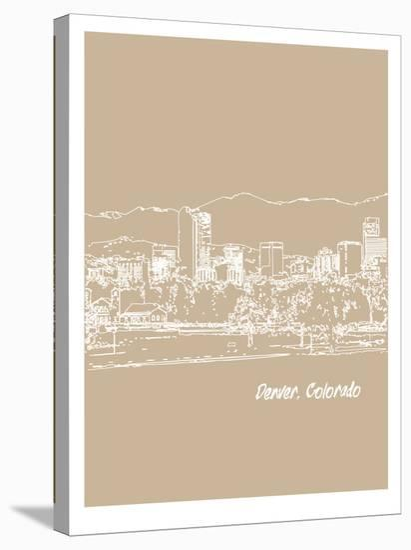 Skyline Denver 7-Brooke Witt-Stretched Canvas Print