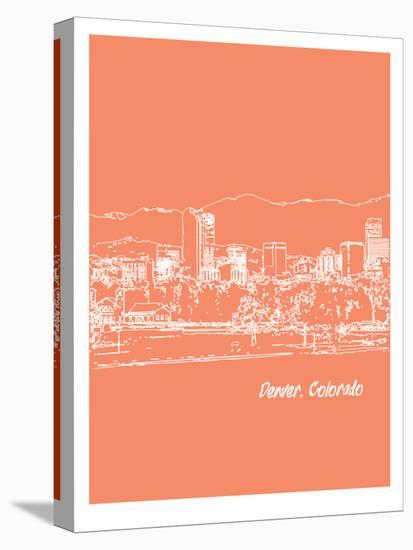 Skyline Denver 8-Brooke Witt-Stretched Canvas Print