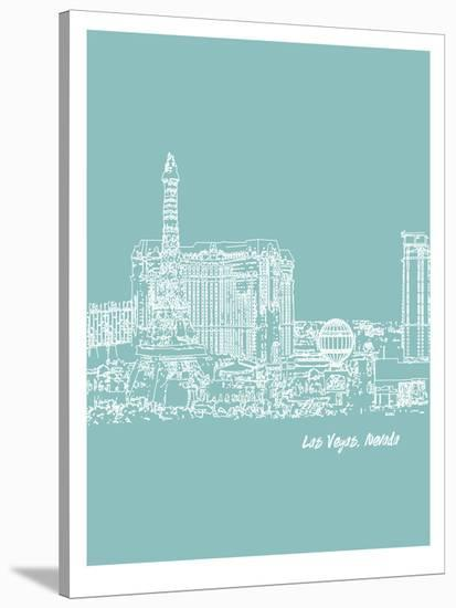 Skyline Las Vegas 5-Brooke Witt-Stretched Canvas Print