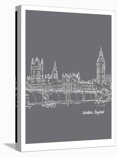 Skyline London 1-Brooke Witt-Stretched Canvas Print