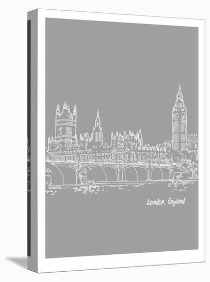 Skyline London 2-Brooke Witt-Stretched Canvas Print