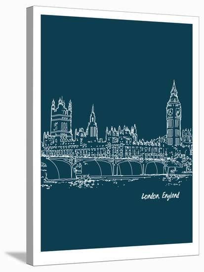 Skyline London 3-Brooke Witt-Stretched Canvas Print