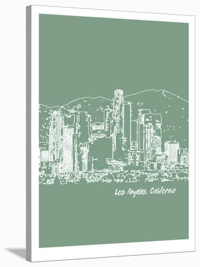 Skyline Los Angeles 6-Brooke Witt-Stretched Canvas Print