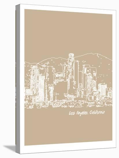 Skyline Los Angeles 7-Brooke Witt-Stretched Canvas Print