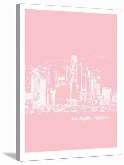 Skyline Los Angeles 9-Brooke Witt-Stretched Canvas Print