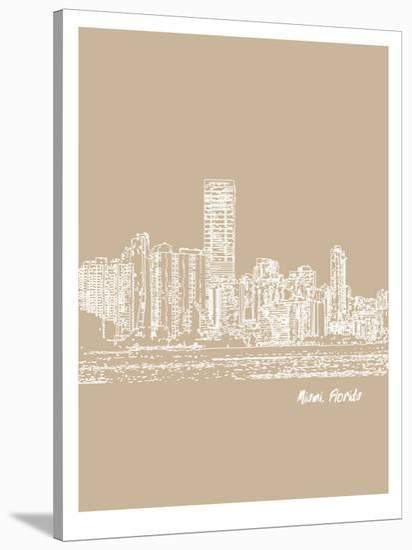 Skyline Miami 7-Brooke Witt-Stretched Canvas Print