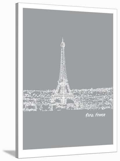 Skyline Paris 2-Brooke Witt-Stretched Canvas Print