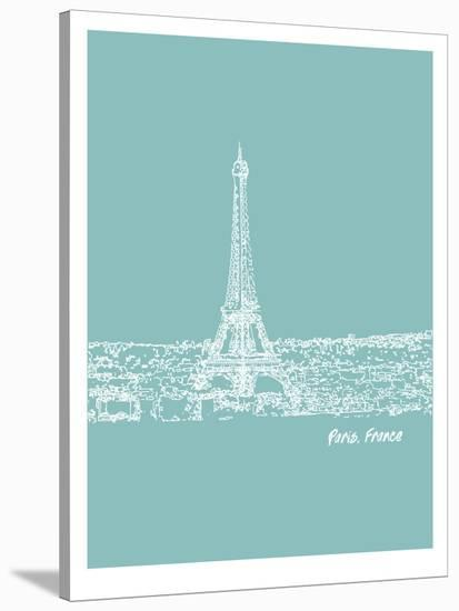 Skyline Paris 5-Brooke Witt-Stretched Canvas Print