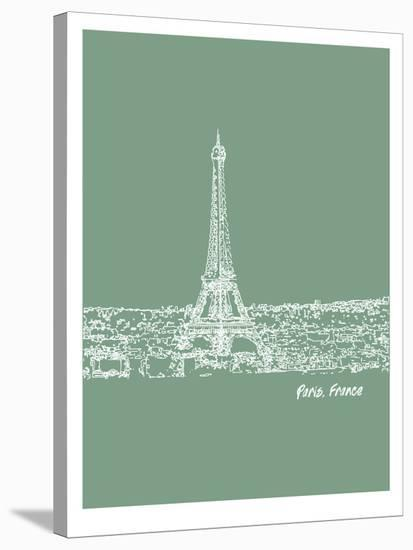 Skyline Paris 6-Brooke Witt-Stretched Canvas Print