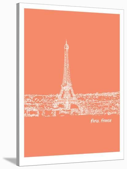 Skyline Paris 8-Brooke Witt-Stretched Canvas Print