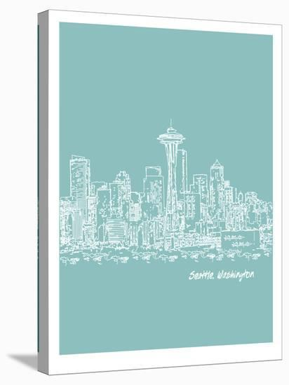 Skyline Seattle 5-Brooke Witt-Stretched Canvas Print