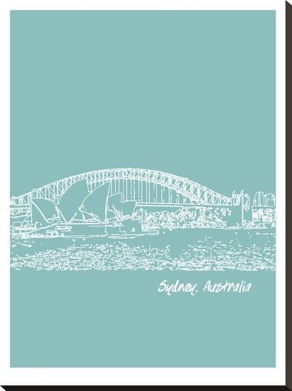 Skyline Sydney 5-Brooke Witt-Stretched Canvas Print