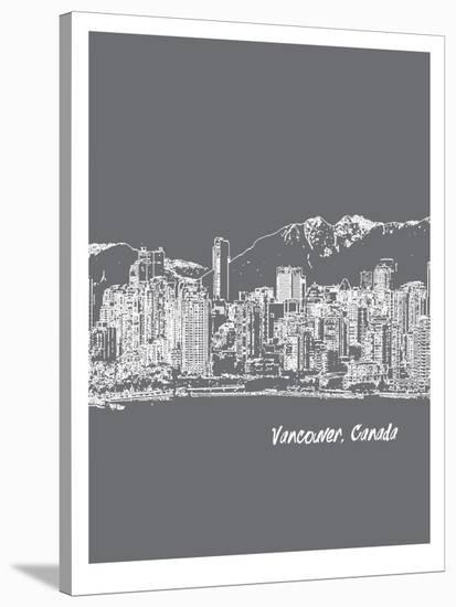 Skyline Vancouver 1-Brooke Witt-Stretched Canvas Print