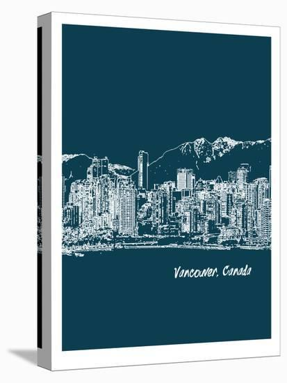 Skyline Vancouver 3-Brooke Witt-Stretched Canvas Print