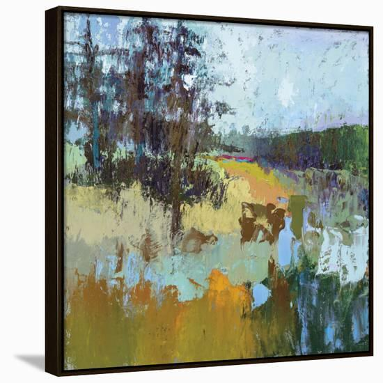 Smell Of Pines-Jane Schmidt-Framed Canvas Print