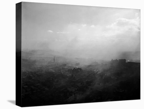 Smoky Sky over Pittsburgh-Margaret Bourke-White-Stretched Canvas Print