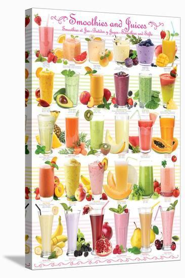 Smoothies--Stretched Canvas Print