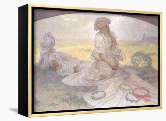 Song of Bohemia, c.1930-Alphonse Mucha-Framed Canvas Print