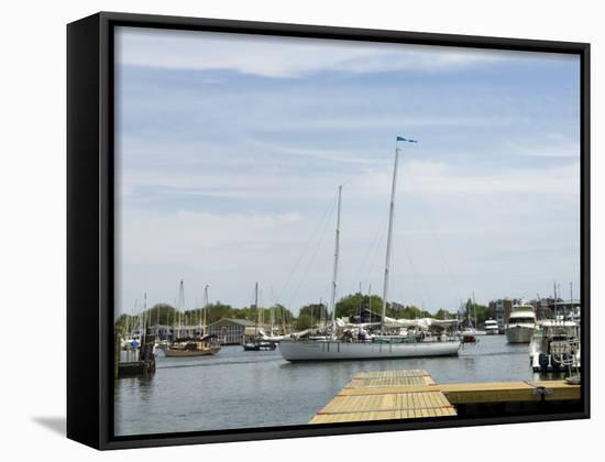 Spa Creek, Annapolis, Maryland, United States of America, North America-Robert Harding-Framed Canvas Print
