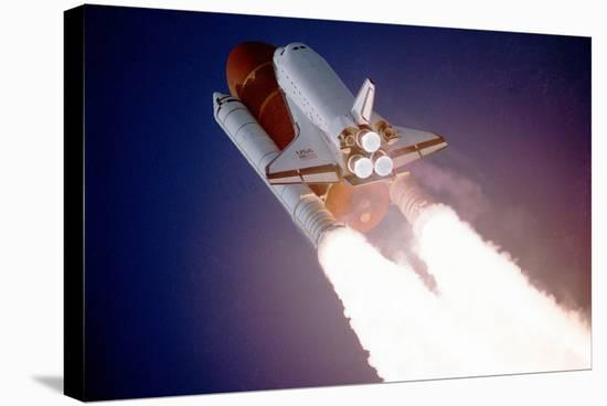 Space Shuttle Atlantis Takes Flight on its Sts-27 Mission on December 2, 1988, 9:30 A.M. EST--Stretched Canvas Print
