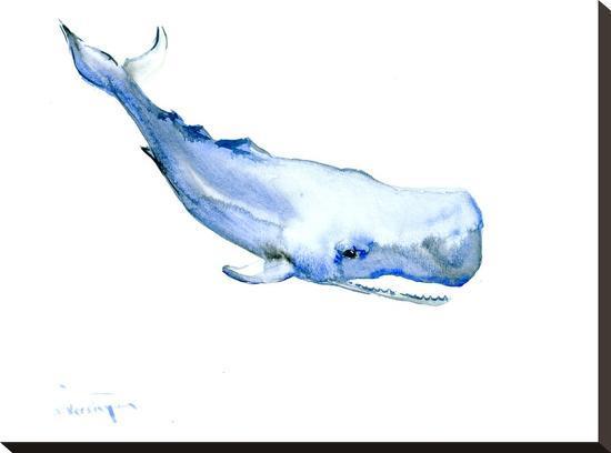 Sperm Whale-Suren Nersisyan-Stretched Canvas Print