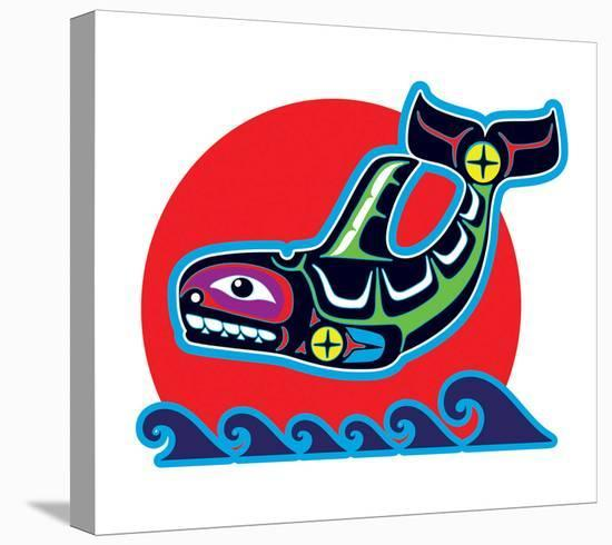 Spirit Orca--Stretched Canvas Print