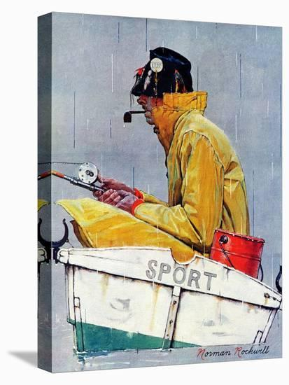 """""""Sport"""", April 29,1939-Norman Rockwell-Stretched Canvas Print"""