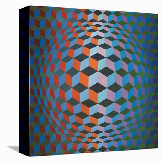 Squares-Victor Vasarely-Stretched Canvas Print