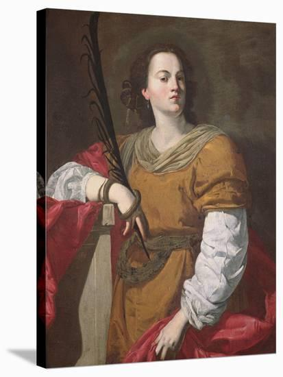 St. Christina the Astonishing, 1637-Francesco Guarino-Stretched Canvas Print