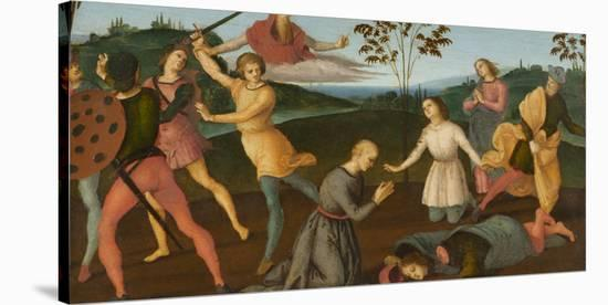 St. Jerome Saving Sylvanus and Punishing the Heretic Sabinianus, 1502-1503-Raphael-Stretched Canvas Print