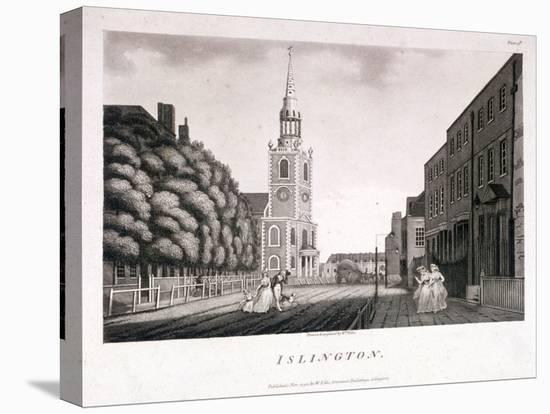 St Mary, Islington, London, 1792-William Ellis-Stretched Canvas Print