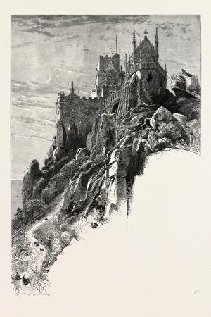 St. Michael's Mount, the Land's End, UK, 19th Century--Stretched Canvas Print