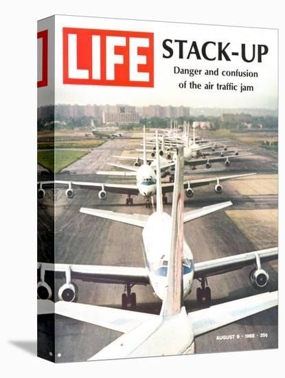 Stack-Up, Air Traffic Jam, August 9, 1968-Bob Gomel-Stretched Canvas Print