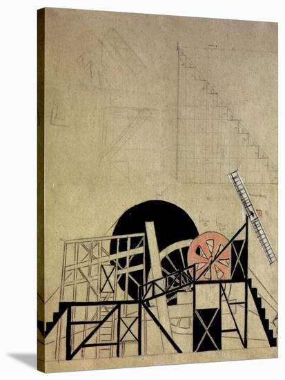 Stage Set Design for the Play the Magnanimous Cuckold by F. Crommelynck, Meyerhold Theatre, Moscow-Liubov Sergeevna Popova-Stretched Canvas Print