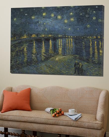 Starry Night over the Rhone, c.1888-Vincent van Gogh-Loft Art