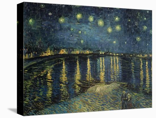 Starry Night over the Rhone, c.1888-Vincent van Gogh-Stretched Canvas Print