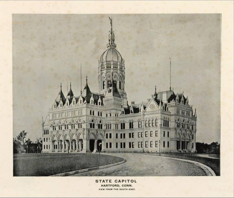 State Capitol Hartford Connecticut C 1893 Stretched Canvas Print Art Com
