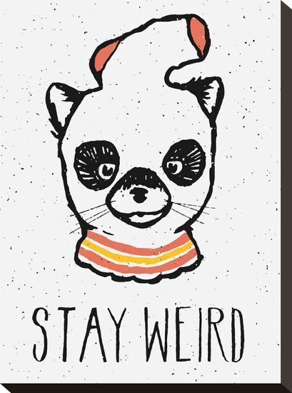 Stay Weird-Florent Bodart-Stretched Canvas Print