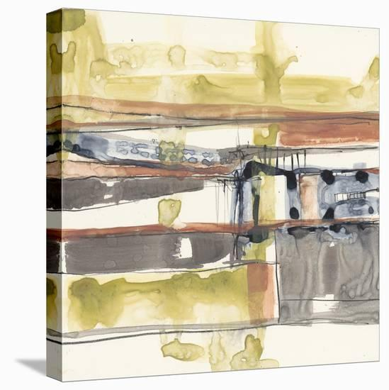 Stepped Abstract II-Jennifer Goldberger-Stretched Canvas Print