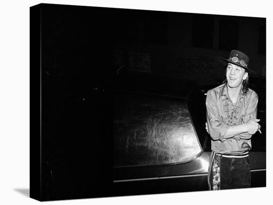 Stevie Ray Vaughan--Stretched Canvas Print