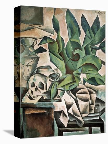 Still Life with Skull-Bohumil Kubista-Stretched Canvas Print